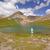hiker enjoying an alpine view stock photo © wildnerdpix