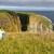 birdwatcher looking at birds on coastal cliffs stock photo © wildnerdpix