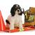 dolgozik · kutya · amerikai · kutyakölyök · ül · építkezés - stock fotó © willeecole