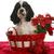karácsony · kutyakölyök · amerikai · ül · kosár · baba - stock fotó © willeecole