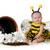 divat · baba · pózol · egyéves · lány · modell - stock fotó © willeecole