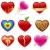 Heart icon set stock photo © wingedcats