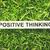positivo · pensando · palavra · papel · grama · verde · estilo · retro - foto stock © winnond