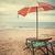 vintage · zand · tropische · palmbomen · hemel - stockfoto © winnond
