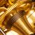 maquinaria · engenharia · dourado · metálico · engrenagens · mecanismo - foto stock © winterling