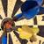 niebieski · arrow · circles · odizolowany · biały · świetle - zdjęcia stock © winterling
