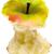 verde · maçã · morder · isolado · branco - foto stock © winterling