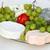 fromages · blanche · raisins · tomate · plaque · déjeuner - photo stock © wjarek