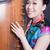 fiatal · nők · kínai · nő · arc · kék · energia - stock fotó © wxin