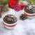 Chocolate Cupcake with Snowflakes, Candle and Christmas Tree stock photo © x3mwoman