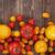 colorful tomato harvest on wooden table background top view stok fotoğraf © xamtiw