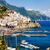 Средиземное · море · порта · деревне · замок · горные · синий - Сток-фото © xantana