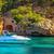 belo · branco · iate · porto · mallorca · praia - foto stock © Xantana