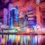 éjszakai · város · felhőkarcolók · város · pénzügyi · negyed · éjszaka · idő - stock fotó © Xantana