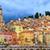 középkori · város · francia · panorámakép · kilátás · tengerpart - stock fotó © xantana