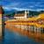 capela · ponte · água · torre · igreja · linha · do · horizonte - foto stock © Xantana