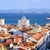 View over the roofs of downtown Lisbon to Tagus river, Portugal stock photo © Xantana