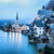 idilli · alpesi · tó · falu · Ausztria · zene - stock fotó © xantana