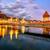 capela · ponte · água · torre · rio · cidade - foto stock © xantana