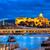 kastély · Duna · folyó · panorámakép · kilátás · város - stock fotó © Xantana