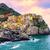 Colorful houses on a rock in Manarola, Cinque Terre, Italy stock photo © Xantana