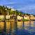 göl · İtalya · gökyüzü · su · binalar · tekne - stok fotoğraf © xantana