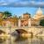 tiber bridge and dome of vatican cathedral rome italy stock photo © xantana
