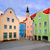 colorful houses in the downtown of schardung austria stock photo © xantana