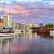 лодка · морем · закат · Балтийское · море · Польша · небе - Сток-фото © xantana