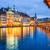 lucerne switzerland the old town from wooden chapel bridge stock photo © xantana