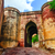 pedra · forte · tijolo · castelo · indiano · portão - foto stock © Xantana