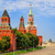 red square and kremlin towers moscow russia stock photo © xantana