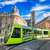 modern tram on the streets of the old town of reims france stock photo © xantana