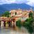 kasteel · middeleeuwse · stad · hemel · stad · gebouwen - stockfoto © xantana
