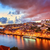 schemering · Portugal · rivier · steden · water · stad - stockfoto © xantana