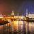 old town of dresden on elbe river at night germany stock photo © xantana