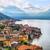 lac · panoramique · vue · montagnes · Italie · ciel - photo stock © xantana