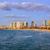 modern · sziluett · város · este · homok · tengerpartok - stock fotó © Xantana