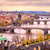 prague bridge panorama in sunset light czech republic stock photo © xantana