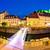 evening panorama of ljubljana river architecture and castle stock photo © xbrchx