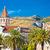 trogir landmarks and mountain cliffs background stock photo © xbrchx