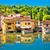 mincio river and idyllic village of borghetto view stock photo © xbrchx