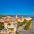 town of trogir rooftops and landmarks view stock photo © xbrchx