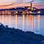 島 · カラフル · 表示 · 夕暮れ - ストックフォト © xbrchx