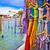 colorful silk on street of venice stock photo © xbrchx