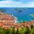 island of hvar bay aerial panoramic view stock photo © xbrchx