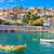 garfo · pôr · do · sol · mediterrânico · céu · verão · azul - foto stock © xbrchx