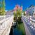tromostovje square and bridges of ljubljana stock photo © xbrchx