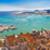 split historic waterfront panoramic aerial view stock photo © xbrchx