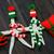 hecho · a · mano · de · punto · bufanda · verde · lana · invierno - foto stock © xuanhuongho